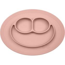 Vajilla infantil de silicona The Mini Mat rosa palo (blush)