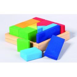 Set de construcción cuadrado con diferentes medidas de madera