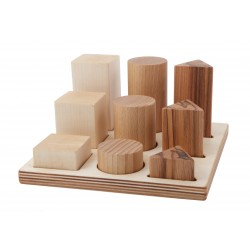 Puzle de madera natural para encajar formas XL