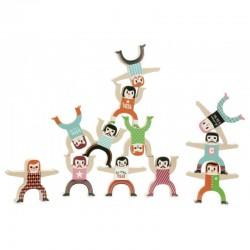 Los acróbatas de madera por Ingela P. Arrhenius (Les acrobates d'Ingela P. Arrhenius - Tightrope walker by Ingela P. Arrhenius)
