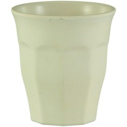 Vaso pequeño de bambú de color marfil