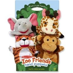 Marionetas de mano del zoo