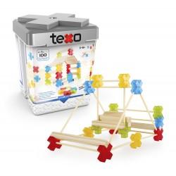 Set de construcción de madera de 100 pcs. Texo®