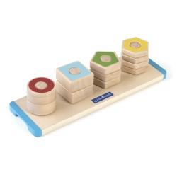 Formas de madera para apilar, contar y enroscar