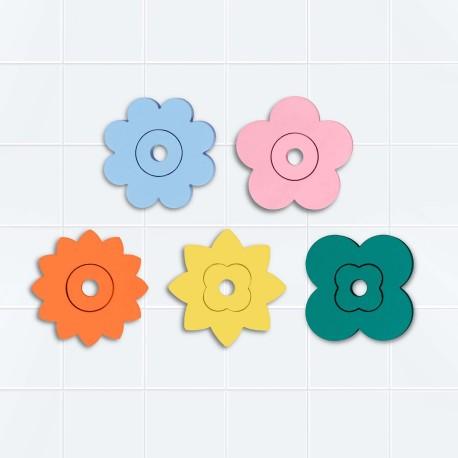Puzle de baño Flower Power