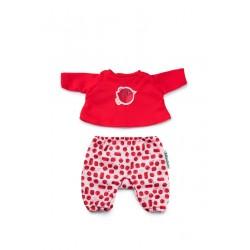 Pijama de petirrojo para muñeca Lou/Noa