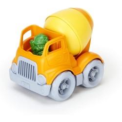 Camión hormigonera de plástico eco amarillo/naranja