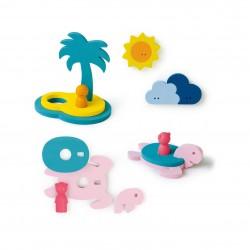 """Puzle 3D de baño de 12 piezas """"La isla del tesoro"""""""