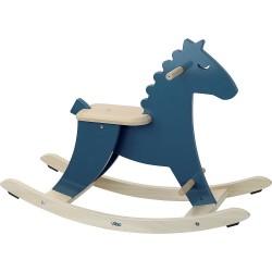 Caballo balancín azul oscuro