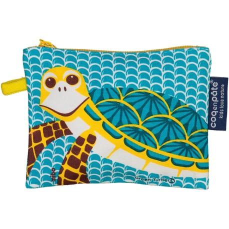 Monedero 100% algodón orgánico de la tortuga