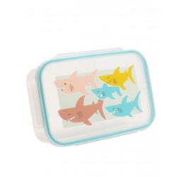 Fiambrera con 3 compartimentos del tiburón