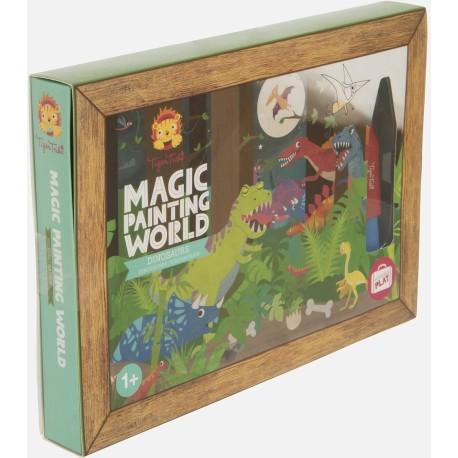 Pintura mágica el mundo de los dinosaurios