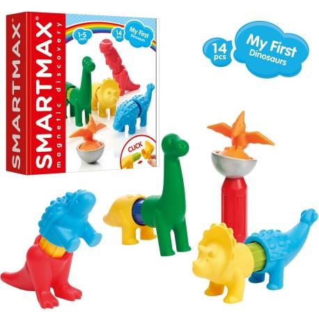 Juego de construcción magnética SmartMax de dinosaurios de 14 piezas