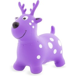 Reno Skippy inflable (Skippy Red and Purple deer) en color rojo y lila.