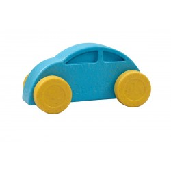 Coche azul y amarillo eco-friendly y antibacteriano