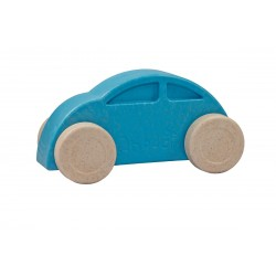 Coche azul y blanco eco-friendly y antibacteriano