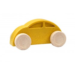 Coche amarillo y blanco eco-friendly y antibacteriano