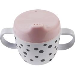 Taza con boquilla y asas rosa (Happy dots)