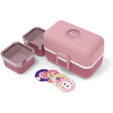 Fiambrera Monbento Tresor infantil color rosa palo