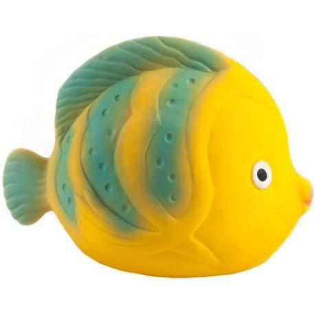 La, el mordedor pez mariposa de caucho (Fish butterfly teether)