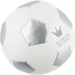 Pelota de fútbol plata