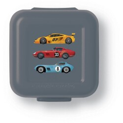 Set de 2 mini fiambreras para snacks (tupper) de los coches de carreras