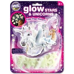 Pack de unicornios y estrellas fluorescentes