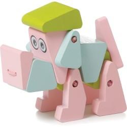 Perro acróbata de madera (Dog acrobat)