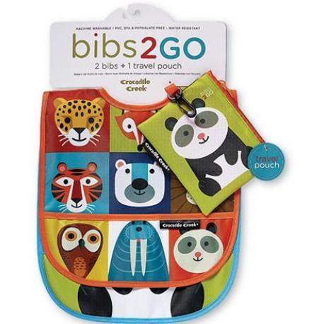 Pack de 2 baberos Bib2Go de la vajilla animalia (Dinnerware Animalia Bib2Go)