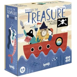 Puzle evolutivo de 4 a 16 piezas Descubre el tesoro