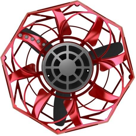 Mini drone volador Fly Star tipo spinner con efecto boomerang (rojo)