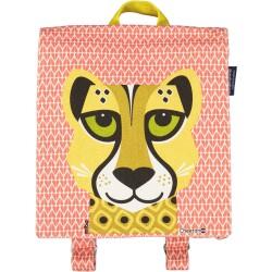 Mochila color rojo del leopardo