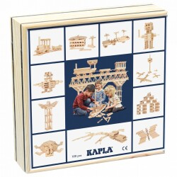 Caja de 100 piezas de madera de construcción de KAPLA
