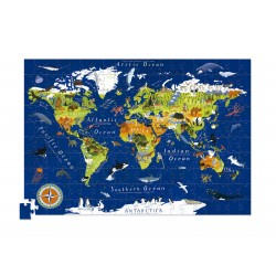 Puzle en caja 200 piezas - Mundo (Puzzle Canister 200 p World)