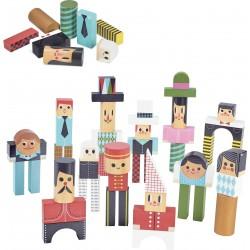 Bloques de madera para construir personajes por Ingela P. Arrhenius