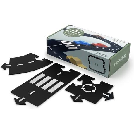 Carretera flexible para coches (Highway) de 24 piezas