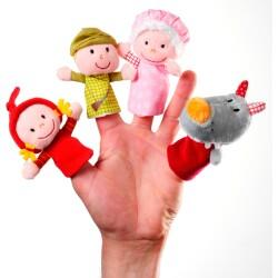 Marionetas de dedo caperucita roja