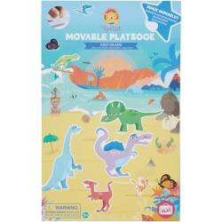 Libro de las pegatinas mágicas de la isla de los dinosaurios