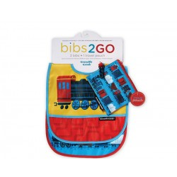 Pack de 2 baberos Bib2Go tren locomotora