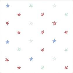 """Muselina de algodón """"vintage circus"""" estampado hand drawn stars"""