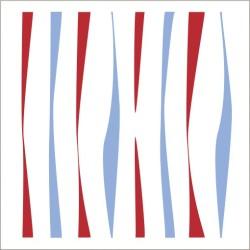 """Muselina de algodón """"vintage circus"""" estampado zebra stripe"""