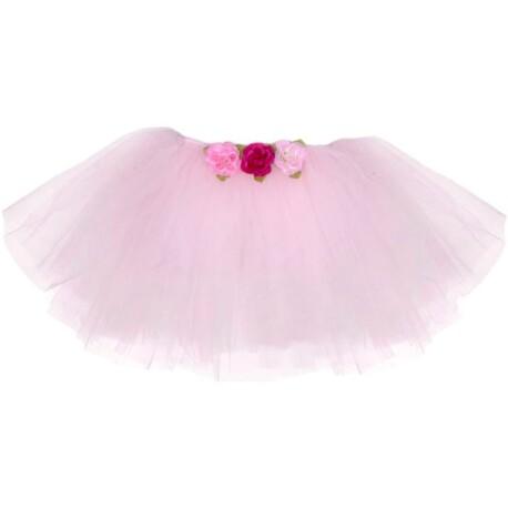 Tutú con rosas de color rosa claro (4-6 años)