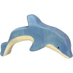 Delfín saltando de madera