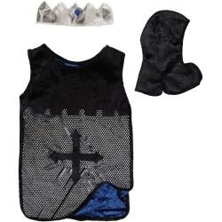 Disfraz de caballero azul y plata (4-7 años)