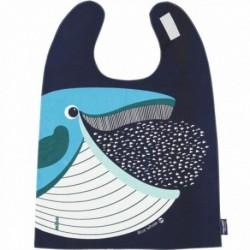 Babero gigante 100% algodón orgánico de la ballena