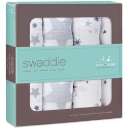 """Pack de 4 muselinas de algodón """"twinkle star swaddles"""""""