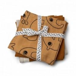 Pack de 3 muselinas de color mostaza