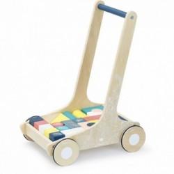 Andador de bloques de madera