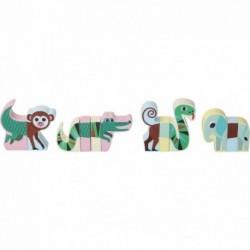 Animales de madera magnéticos