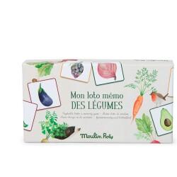 Juego de loto/memo de las hortalizas, colección El Jardín de Moulin